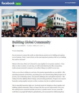 Building Global Community
