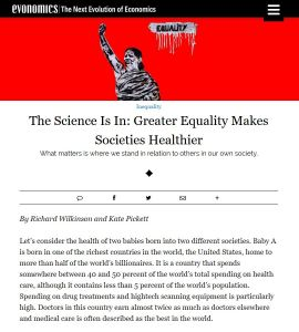 The Science Is In: Greater Equality Makes Societies Healthier summary