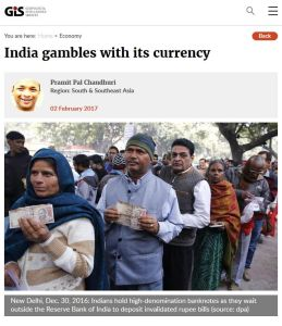 India Gambles with Its Currency