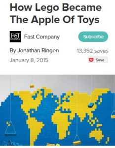 How Lego Became the Apple of Toys summary