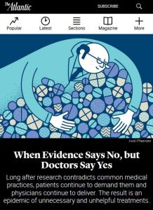 When Evidence Says No, but Doctors Say Yes summary