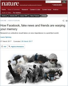 How Facebook, Fake News and Friends Are Warping Your Memory summary