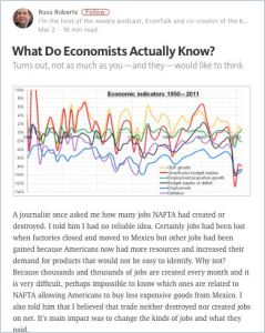 What Do Economists Actually Know? summary