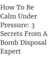 How To Be Calm Under Pressure