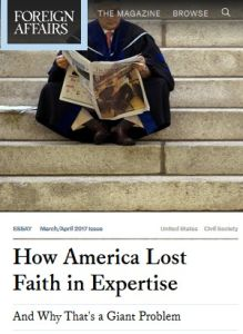 How America Lost Faith in Expertise summary