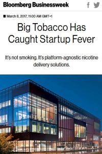 Big Tobacco Has Caught Startup Fever summary