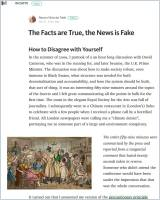 The Facts Are True, the News Is Fake summary