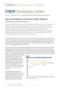 Age Discrimination and Hiring of Older Workers  summary