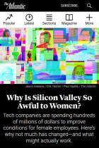 Why Is Silicon Valley So Awful to Women?