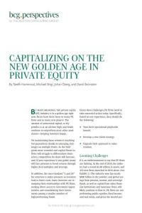 Capitalizing on the New Golden Age in Private Equity summary