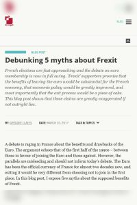 Debunking 5 Myths About Frexit summary