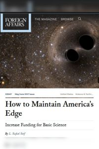 How to Maintain America's Edge summary