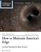 How to Maintain America's Edge