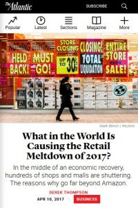 What in the World Is Causing the Retail Meltdown of 2017? summary