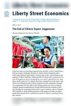 The End of China's Export Juggernaut