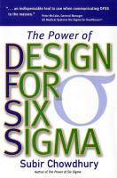 The Power of Design for Six Sigma book summary