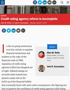 Credit rating agency reform is incomplete summary