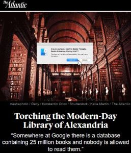 Torching the Modern-Day Library of Alexandria summary