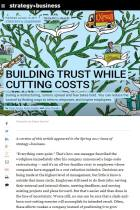 Building Trust While Cutting Costs