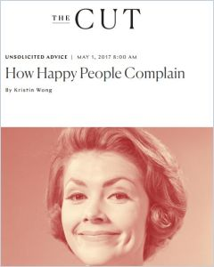 How Happy People Complain