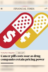 Cancer Pill Costs Soar as Drug Companies Retain Pricing Power summary