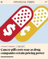 Cancer Pill Costs Soar as Drug Companies Retain Pricing Power