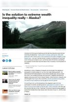 Is the Solution to Extreme Wealth Inequality Really – Alaska?