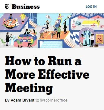 Image of: How to Run a More Effective Meeting