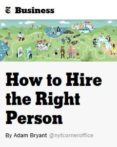 How to Hire the Right Person summary