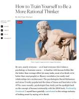How to Train Yourself to Be a More Rational Thinker