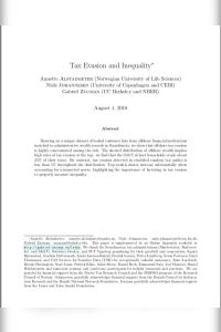 Tax Evasion and Inequality summary