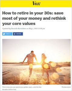 How to Retire in Your 30s summary