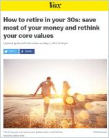 How to Retire in Your 30s