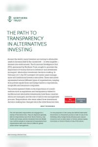 The Path to Transparency in Alternatives Investing summary