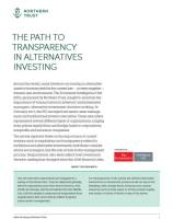 The Path to Transparency in Alternatives Investing