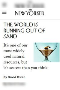 The World Is Running Out of Sand summary