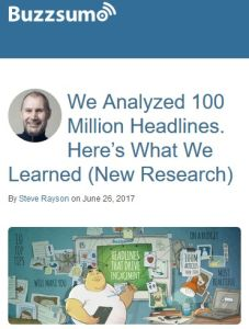 We Analyzed 100 Million Headlines. Here's What We Learned (New Research) summary