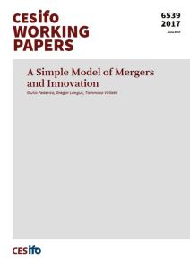 A Simple Model of Mergers and Innovation