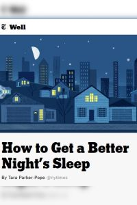 How to Get a Better Night's Sleep summary
