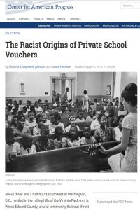The Racist Origins of Private School Vouchers summary