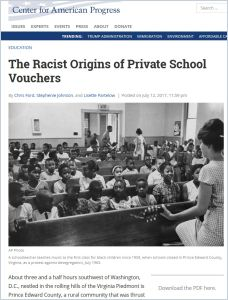 The Racist Origins of Private School Vouchers