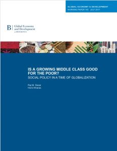 Is a growing middle class good for the poor?
