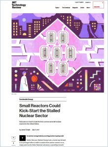 Small Reactors Could Kick-Start the Stalled Nuclear Sector summary