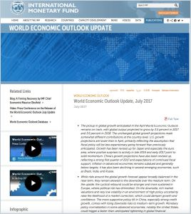 World Economic Outlook Update, July 2017 summary