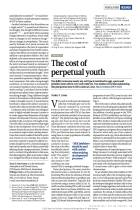 The Cost of  Perpetual Youth