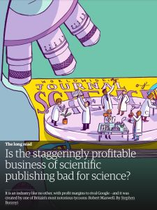 Is the Staggeringly Profitable Business of Scientific Publishing Bad for Science? summary