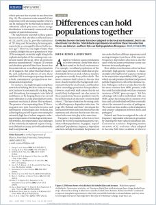 Differences can Hold Populations Together summary