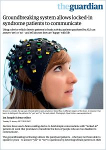 Groundbreaking System Allows Locked-In Syndrome Patients to Communicate