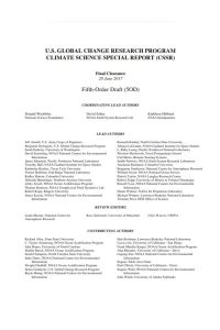 US Global Change Research Program Climate Science Special Report (CSSR) summary