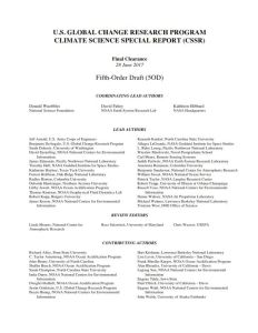 US Global Change Research Program Climate Science Special Report (CSSR)